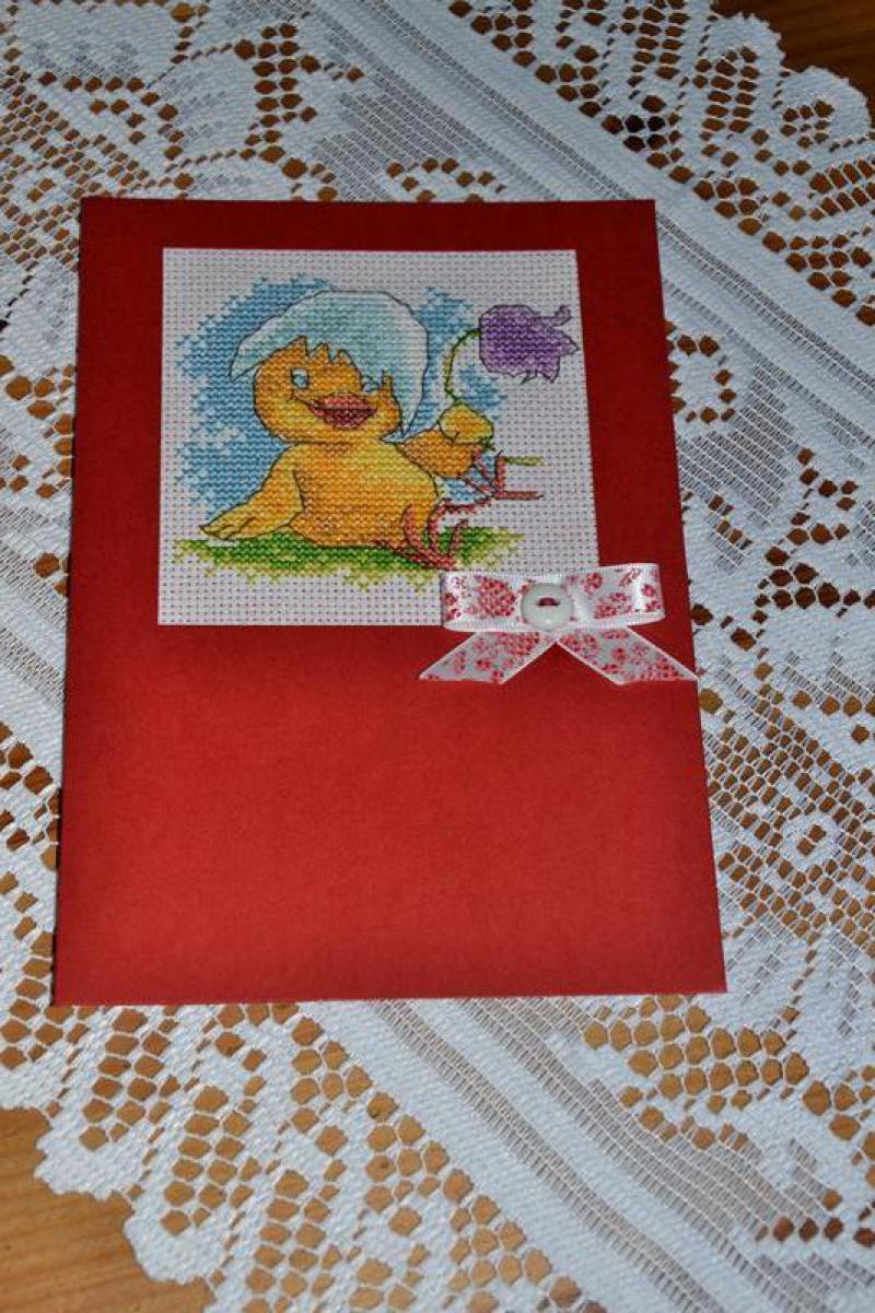 Новорожденный цыпленок открытка 2